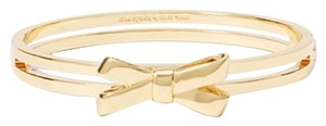 Kate Spade New Kate Spade DOUBLE BOW Yellow Gold Plated Bangle Bracelet