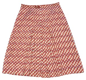 Tory Burch Skirt Coral and cream