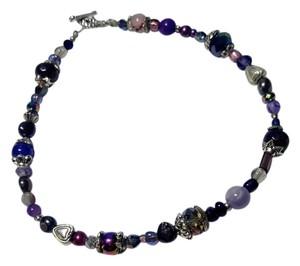 Other New Purple Silver Anklet 10 Inch Handmade J2855