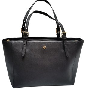 Tory Burch Jacquard Lining Tote in Black