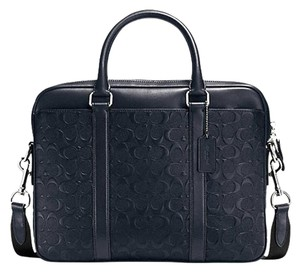 Coach Leather Business Work Laptop Bag