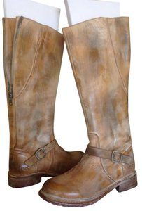 Bed|Stü Bed Stu Moto Boot Leather Tan Rustic Boots