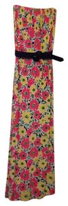 Pink, yellow and navy Maxi Dress by Lilly Pulitzer
