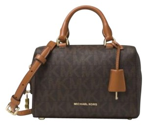 Michael Kors Next Day Shipping Satchel in Brown Monogram
