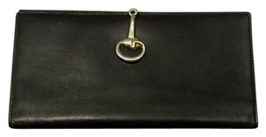 Gucci RARE Vintage Iconic Horsebit Clasp Leather Wallet