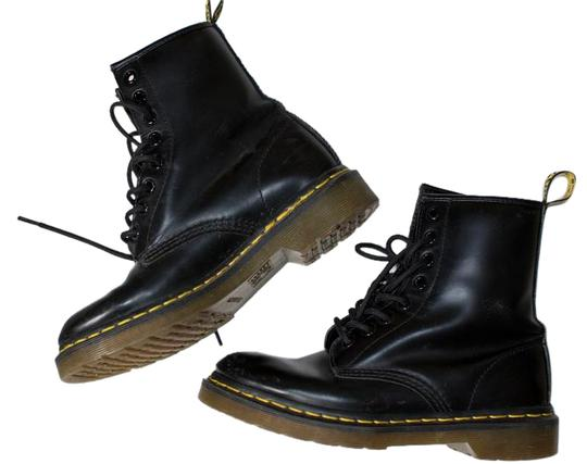 Dr. Martens Smooth Leather Durable Lace Up Unlined BLACK Boots