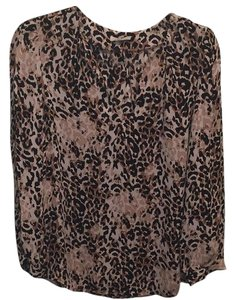 Joie Top Leopard with black and tan