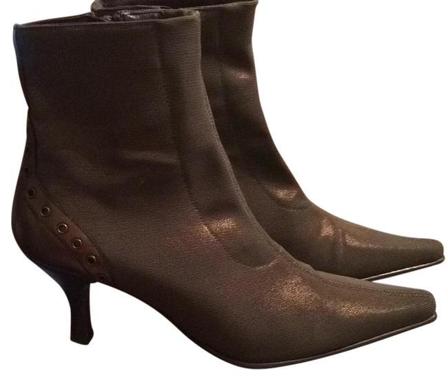 Item - Olive Green Stretchable Fabric Boots/Booties Size US 6 Regular (M, B)