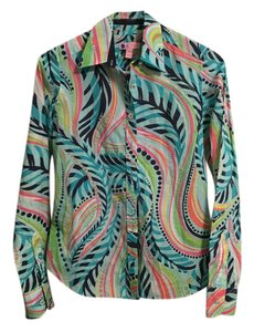 Lilly Pulitzer Top Blue multi