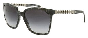 Chanel NEW Chanel 5325A Square Chain Grey Tweed Sunglasses