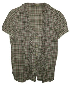 Ann Taylor LOFT Top Plaid
