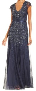 Adrianna Papell Sequin Beaded Mesh Mermaid Dress