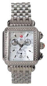 Michele Michele Deco Diamond Chronograph Watch. Spectacular!