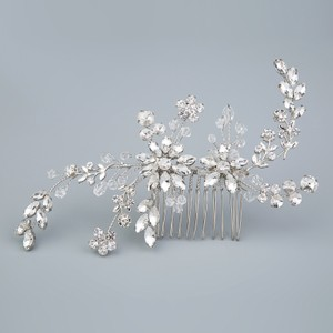Pageant Prom Bridesmaid Bridal Hair Comb Art Vine Leaf Cz Diamond Bling Deco Crystal Rhinestone Wedding Hair Comb Old