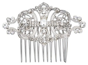 Wedding Hair Comb flower clear bridesmaid crystal bling rhinestone