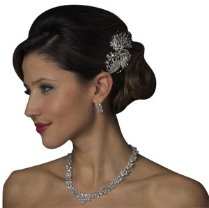 clear pageant dangle Comb Bridal Swarovski Veil Wedding Bridesmaid