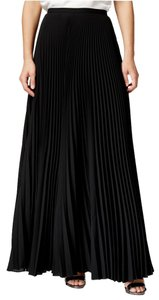 Tahari Pleated Maxi Skirt Black