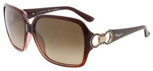 Salvatore Ferragamo Salvatore Ferragamo Crystal Rust Oversized Square Sunglasses