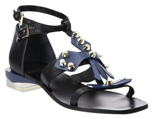 Tory Burch Black/Blue Sandals