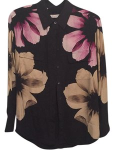 Equipment Button Down Shirt True black with floral