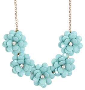 J.Crew CRYSTAL FLORAL BURST NECKLACE