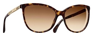 Chanel NEW Chanel 5352 Brown Butterfly Chain Logo Cat Eye Sunglasses