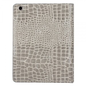 Gray Faux Alligator iPad Protective Cover Case for iPad 2, 3 & 4