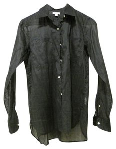 Gap Beach Ramie Shirt Shirt Button Down Shirt Black