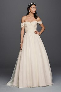 David's Bridal Tulle Beaded Lace Sweetheart Wedding Dress Wedding Dress