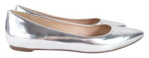 J.Crew Silver Leather Flats