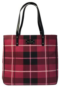 Kate Spade Large Pebbled Leather New With Tags Tote in Plaidswpin