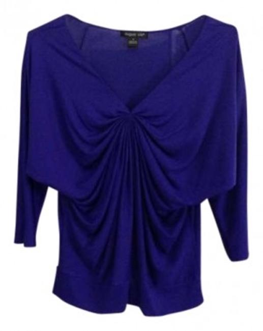 August Silk Top Blue