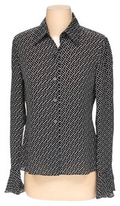 MICHAEL Michael Kors Silk Geometric Print Button Down Shirt