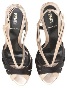 Fendi Black/Gold Sandals