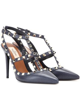 Valentino Rockstud Heels Navy/Denim Pumps