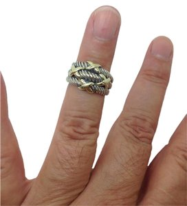 David Yurman size 6, sterling silver, 14k yellow gold, unisex, fashion ring