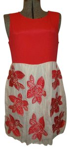 Alice + Olivia short dress red & beige Sleeveless on Tradesy
