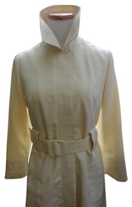 Silky Viscose Vintage Trench Coat