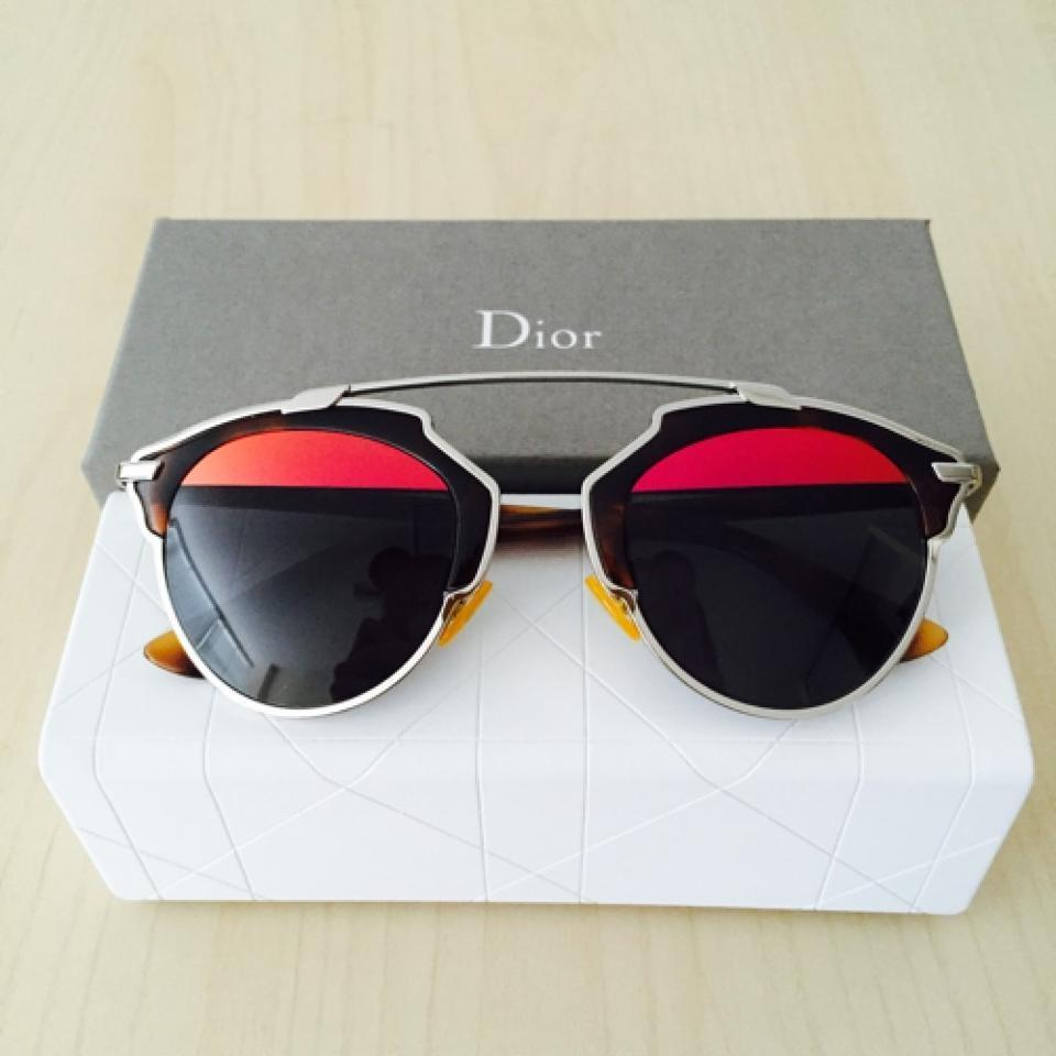 2ba1d37ef4f9 Dior Palladium Tortoise Grey Red Mmirror So Real 48mm Mirrored Palladium Tortoise Grey  Sunglasses - Tradesy