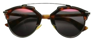 Dior So Real 48mm Mirrored Sunglasses Palladium/Tortoise/Grey Red Mmirror