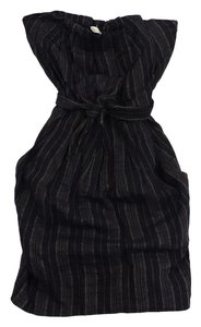 3.1 Phillip Lim short dress Grey Striped Strapless Linen on Tradesy