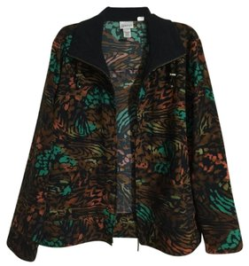 Chico's Teal Black Brown Jacket