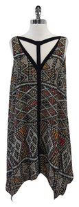 BCBGMAXAZRIA short dress Multi Color Print Sleeveless on Tradesy