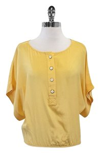 Light Yellow Silk Top