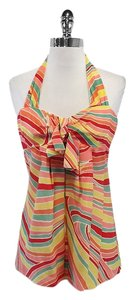 Nanette Lepore Multi Color Silk Halter Halter Top