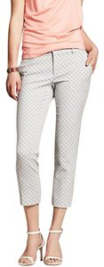 Banana Republic Patterned Check Weave Diamond Capri/Cropped Pants Grey