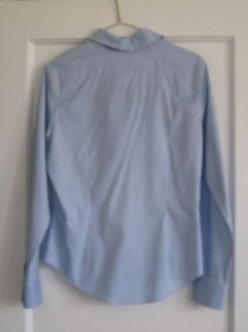 Brooks Brothers Non-iron Oprah Oprah's Favorite Things Blouse Light Button Down Shirt Baby Blue