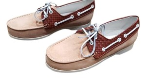Bottega Veneta Light Pink / Brown / White Flats