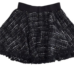 MILLY Pleated Skirt Black