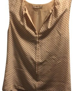 Tory Burch Top Light pink with small black polka dot.